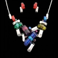 Wholesale New Fashion Color Candy Necklaces Gift Jewellery Set For Women,Free Shipping NS028