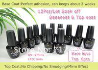 Free shipping 100% Guaranteed base gel topcoat 12pcs/set uv gel nail polish color gel nail polish gel polish Fashion Nail Art