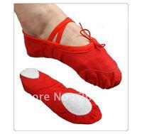 BL001 canvas ballet dance ballet shoes 4 colors canvas split sole soft ballet shoes size 30-41  Free shipping SM060