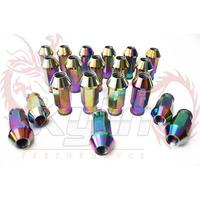 KYLIN STORE - D1 SPEC NEO CHROME  LIGHT WEIGHT WHEEL RACING LUG NUTS P:1.5/1.25, L:52mm (20Pcs/Set)