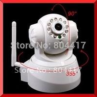 2015 New High Quality White Wireless IP Network Pan/Tilt Security WIFI Audio CCTV 10 IR Night Vision Camera