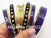 Purple Multi Layer Bangle ! Newest Bracelet Set! High Quality with Rhinestone bracelet set. Fashion Jewelry 18K Bangle Bracelet.