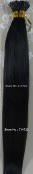 """FREE SHIPPING Virgin Brazilian  2Sets AAA+18""""-32"""" Remy 100% Human Hair Extensions Stick Hair Straight  #1 Jet Black"""