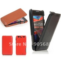 High Quality Fashion Leather Case For Motorola XT910 MAXX DROID RAZR anki 100%Real Cowhide Cover Free Shipping