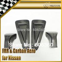 For Nissan R35 GTR Carbon Fiber OEM Carbon Hood Bonnet Air Vents Scoop with Air Tunnel