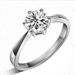 Free shipping MSF bestselling high quality 925 sterling silver AAA zircon platinum plated female wedding rings