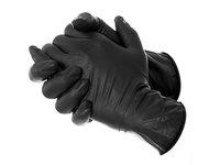 Free Shipping 50 pcs Black Disposable Latex Exam Tattoo Medical Gloves Large X large