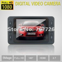 """FULL HD 1080P car video recorder with 140 degrees ultra wide angle lens,2.7"""" LCD car dvr D8"""