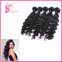 6A Best Quality Deep Wave Hair 3 pieces lot Mixed Lengths 12 to 30 inch Peruvian Virgin Human Hair Extensions With Free Shipping