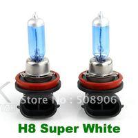 2pcs High Efficience H8 Halogen Xenon White Light Bulbs Low Beam 6000K 12V 35W