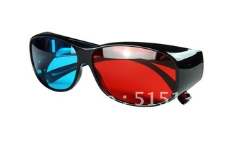 Red Blue 3D Glasses Anaglyphic Plastic Frame Computer glasses  For 3D wholesale 10pcs/Lot Free shipping