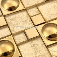 Magic pattern Gold Glass Kitchen Backsplash tiles Ideas Bathroom Walls pool bar hotel room remodling porcelain discounted tiles