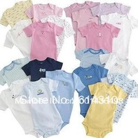 New Hot selling Original baby romper boy&girl's short/long  sleeve romper baby 100% cotton 5pcs in pack