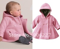 Freeshipping pink&melon overcoat for baby 80-100cm 3 sizes,baby wear,any size,fashon baby clothese 2012 new version