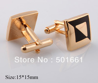 hot sale Free Shipping fashion gold men cufflinks Brass beour Cufflink black enamel 2013 new shirt jewelry for mens Cuff links