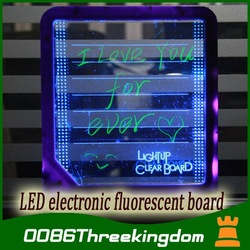 LED message board / Writing Board light/ led display fluorescence plate with a highlighter free to write or Erased N1020(China (Mainland))
