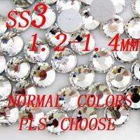 Nail art rhinestones for nail decoration 1440pcs ss3 1.3-1.5mm many colors to choose loose rhinestones for bling bling diy