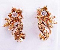 Fashion champagne Topaz 18KT yellow gold filled Earrings for gift Zircon earrings  women earrings free shipping