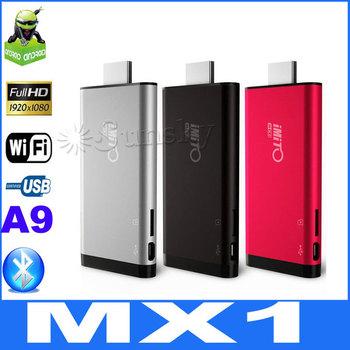 [In Stock] Newest iMito MX1 Dual Core TV Box Android 4.1.1 Mini PC RK3066 1.6Ghz 1GB/8GB Cortex-A9 Bluetooth 3D Game  tv sticker