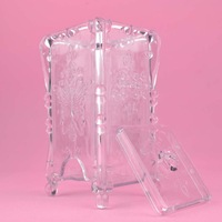 D29 anna  queen transparent storage box butterfly vertical cotton pad box storage box