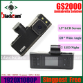 Full HD Car DVR 1920*1080P 30FPS With GPS G-SENSOR H.264 Ambarella CPU Free Shipping Original GS2000 Car Digital Camera