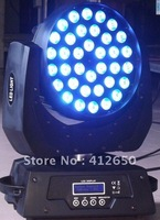 Free Shipping RGBW 4 in 1 Led Moving Head Light Zoom Function 36 pcs * 10w
