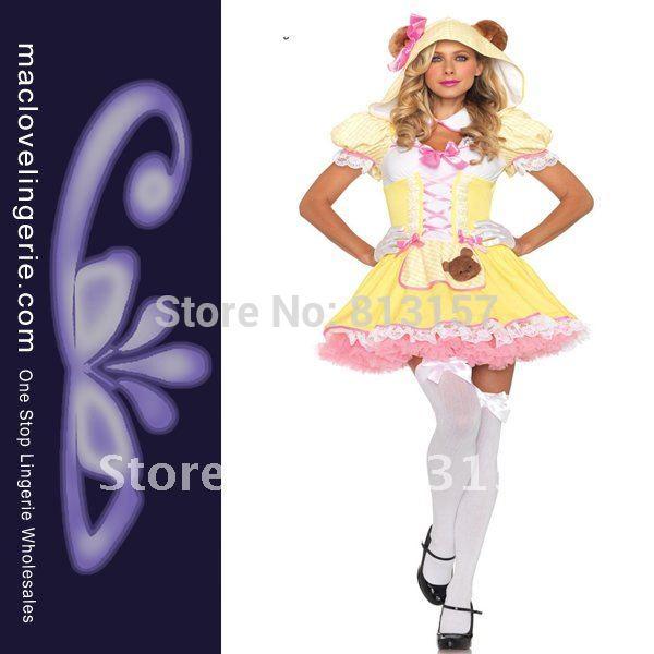 Потребительские товары Maclove Adult Bear Costumes ML5269 ML5269 Sexy Costumes For Halloween inflatable unicorn halloween costumes blow up suit for adult
