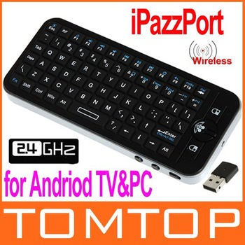 Mini iPazzPort 3D Gyroscope Fly Air Mouse Mini Wireless Handheld Keyboard for Andriod TV & PC