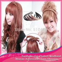 Wholesales Free Shipping 10pcs/lot Korean Fashion Style Wig Braid Headband Hairband Hair Hlip For Women Hair Accessories
