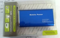 Portable Power bank for mobile phone, output 2 USB -  8000mAH capacity