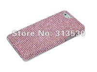 Handmade Super Bling Pink Authentic High Quality Austria Crystal Diamond Rhinestone Cover Case For iPhone 5S 5 Free Shipping