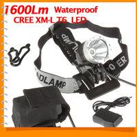 Sale! Outdoor Waterproof CREE XML T6 1600 Lumen LED Front Bike Light Bicycle Head Lamp & LED Headlight Headlamp