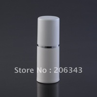 15ml white  airless vacuum pump lotion bottle with white cap