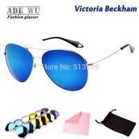 Fashion Icon Victoria Beckham Sunglasses Polarized Men Brand Women Coating Sunglass With Flash Lenses oculos de sol Feminino