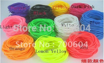 fashion trendy Elastic silicon candy color rubber bands bracelet & bangle  for girls 2mm diameter inner diameter 6.5cm/6.0cm