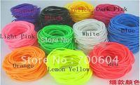 fashion trendy Elastic silicon candy color rubber bands bracelet & bangle  for girls 2mm diameter inner diameter 6.5cm/6.0cm