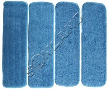 4pcs  13cmx45cm  Deep Clean Mop Head Mops Refill Mop Replacement Pads 45cmx13cm w/ Velcro Wet Mop Refill