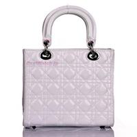 4Colors--Hot sale qualtiy Patent Calfskin Leather elegant Lady WhiteTote Bag  Princess Cubic Handbag+Free shipping