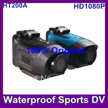 2013 Newest HD - Top-of-the-line 1080P Full HD Extreme Waterproof Sports Camera 1.5 inch Screen,HDMI output TV out Free Shipping