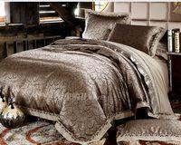 25 designs brand bedding set  silk cotton jacquard quilt cover set purple king size comforter set bed sheet bed linen