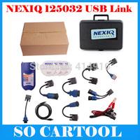 2014 Professional NEXIQ 125032 USB Link+Software Diesel Truck Diagnose Interface Nexiq USB Link With Plastic Box DHL Shipping