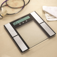 Digital Balance Extra Slim Electronic Body Fat Weight Scale with Hydration Muscle Monitor and Touch Button and 12 Persons Memory