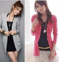 Free Shipping Women Cardigan Sweater Fashion Pullove 100% cotton  W4101
