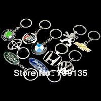 Free shipping 60pcs/lot Car accessories, 3D Car LOGO key chains, metal car key ring for boyfriend gift