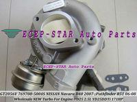GT2056V  769708-5004S 14411-EC00C 14411-EC70B TURBOCHARGER Fit for NISSAN Navara D40;Pathfinder R51 2006-2008 YD25DDTi YD25 2.5L