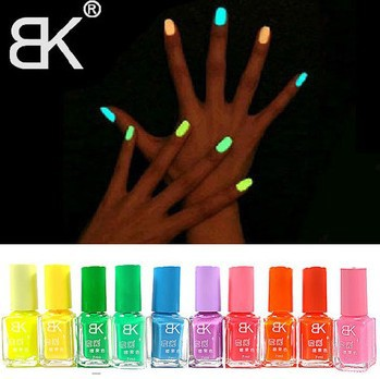 Fashion 2014 BK fluorescent polish nail oil glow in the dark agnetic neon luminous art nailoil professional products A802
