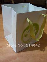 H1227-Wholesale Packing Paper Bags/ Handle Bag Shopping Bag MOQ 1000PCS Environmental Reticule Free Shipping Paper Gift Bags