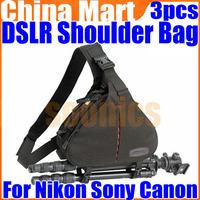 DSLR Camera Case Messenger Shoulder Bag For Nikon Sony Canon 3 pcs/lot Free Express