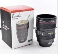 Free shipping  Coffee camera lens mug cup Caniam logo . drink cup