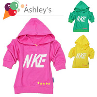 2013 New arrival active girl's 2 color hooded track suits boy letter patter spring hoodies tops kid sprot Tees free-shipping